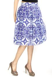 Fashion Pickle Print Midi Skirt - Product Mini Image