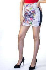 Fashion Pickle Printed Mini Skirt - Product Mini Image