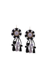 Fashion Pickle Riba Statement Earrings - Product Mini Image