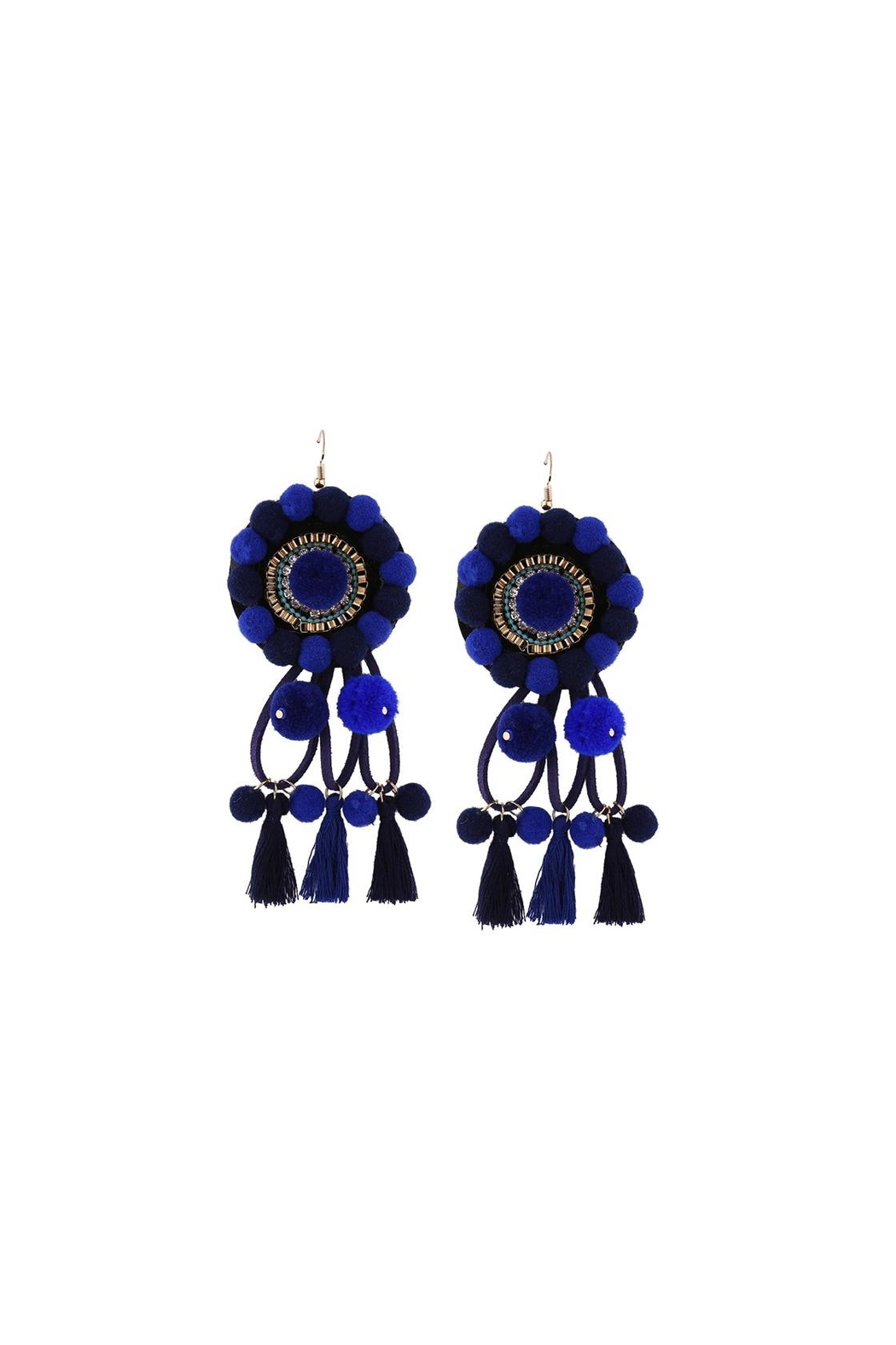 Fashion Pickle Riba Statement Earrings - Front Cropped Image