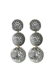 Fashion Pickle Sequins Ball Earrings - Product Mini Image