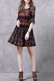 Fashion Pickle Short Boho Dress - Product Mini Image