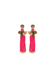 Fashion Pickle Tassel Statement Earrings - Product Mini Image