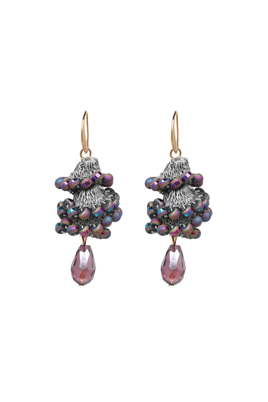 Fashion Pickle Ulas Statement Earrings - Front Cropped Image