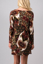 Fashion Queen  Print Detailed Dress - Front full body