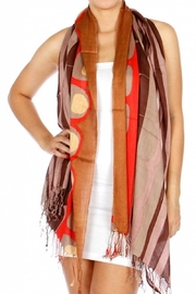 Fashion Unic Circles And Stripes Scarf - Front cropped