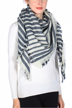 Shoptiques Product: Fringe Trim Square Scarf