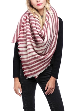 Fashion Unic Fringe Trim Square Scarf - Alternate List Image