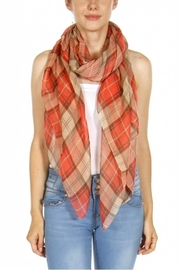 Fashion Unic Light Plaid Scarf - Product Mini Image