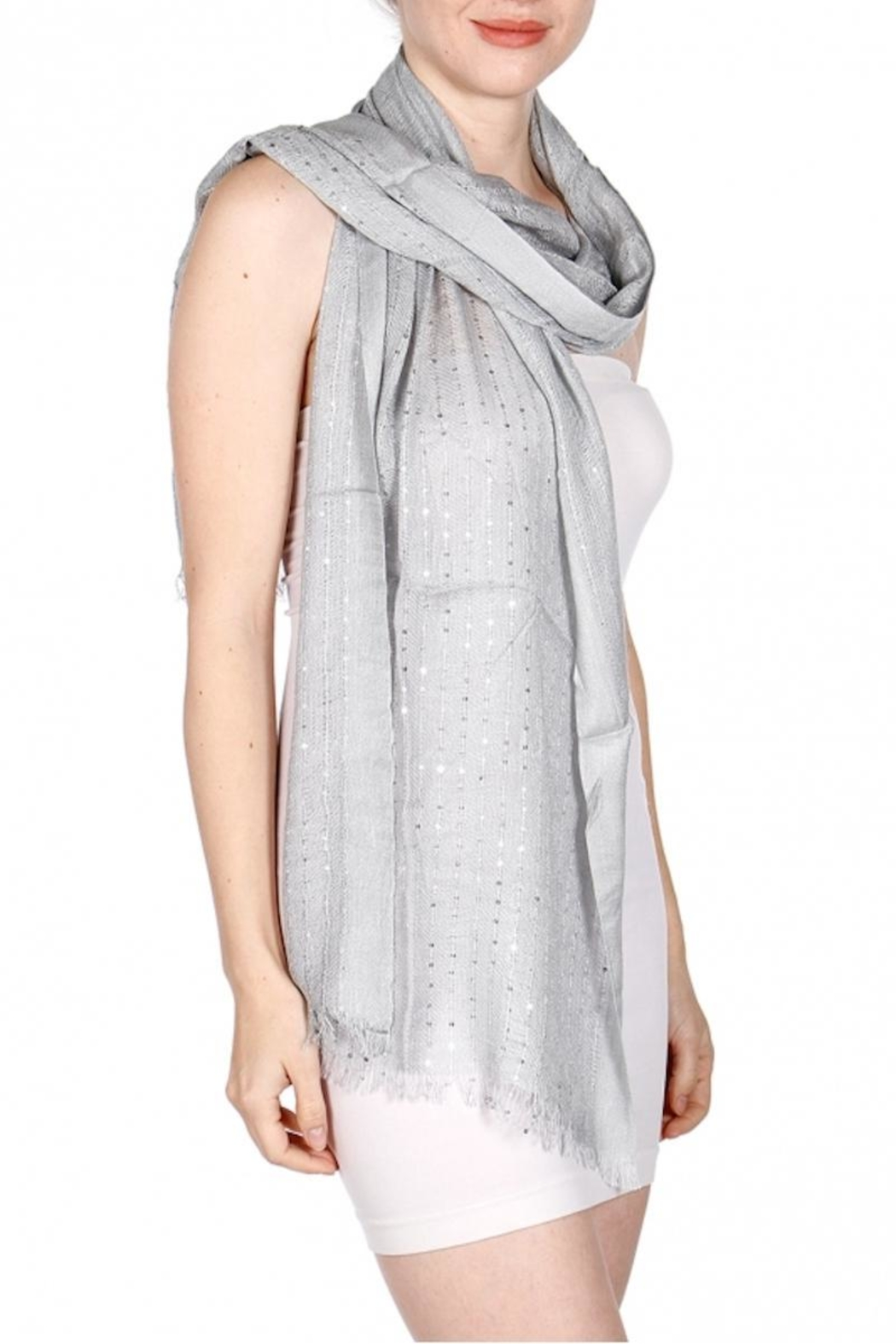 Fashion Unic Soft Sequin Scarf - Front Cropped Image