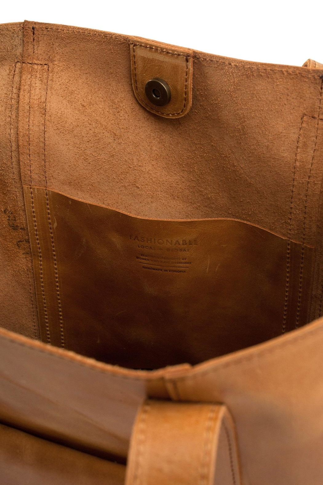 FashionAble Caryall Leather Tote - Side Cropped Image