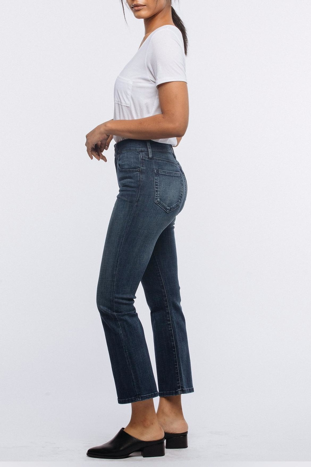 FashionAble Kick Cropped Jeans - Front Full Image