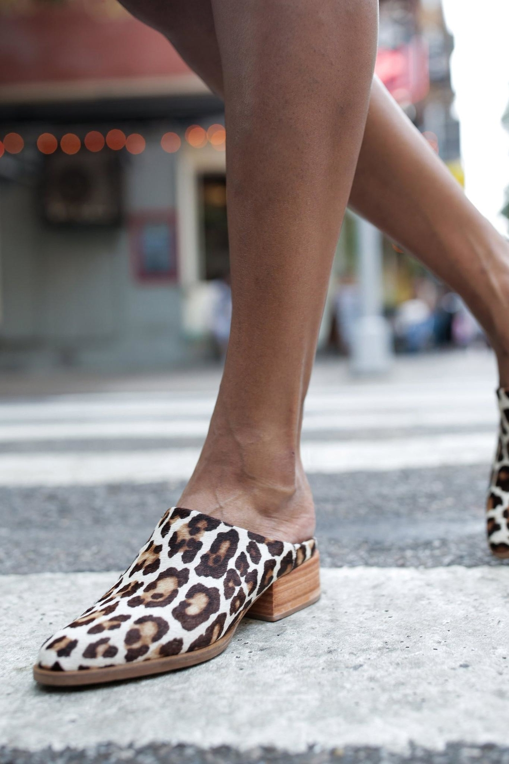 FashionAble Leopard Mules - Side Cropped Image