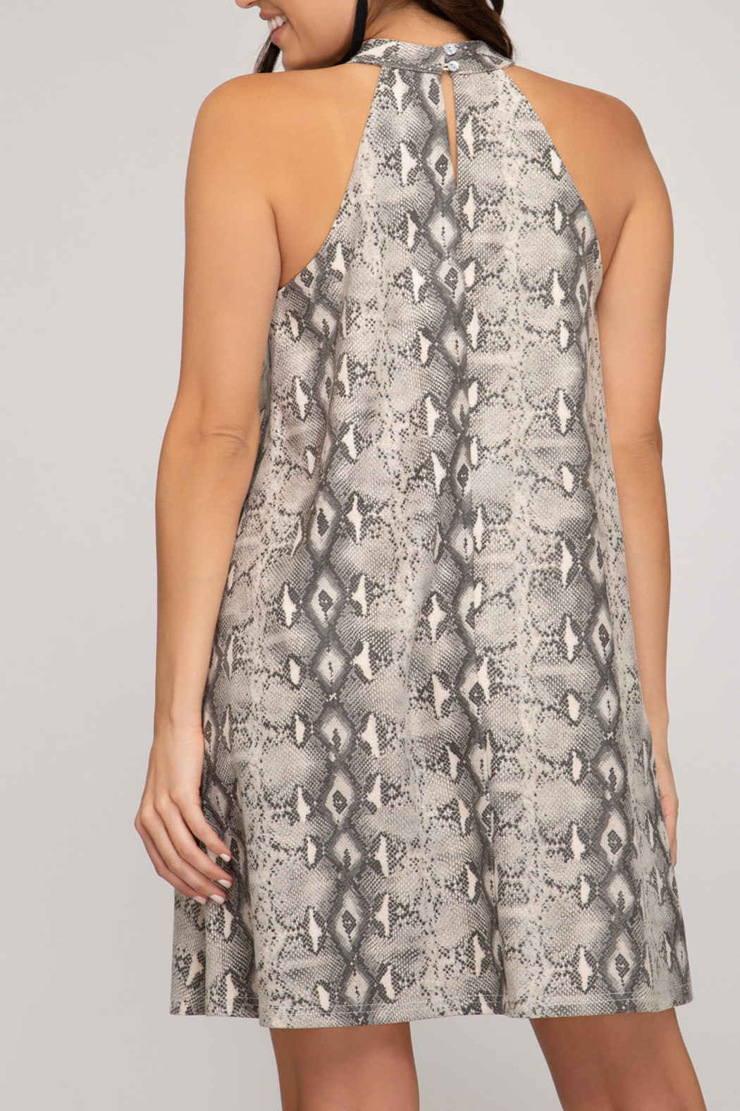 She and Sky Fashionably Fierce Dress - Front Full Image