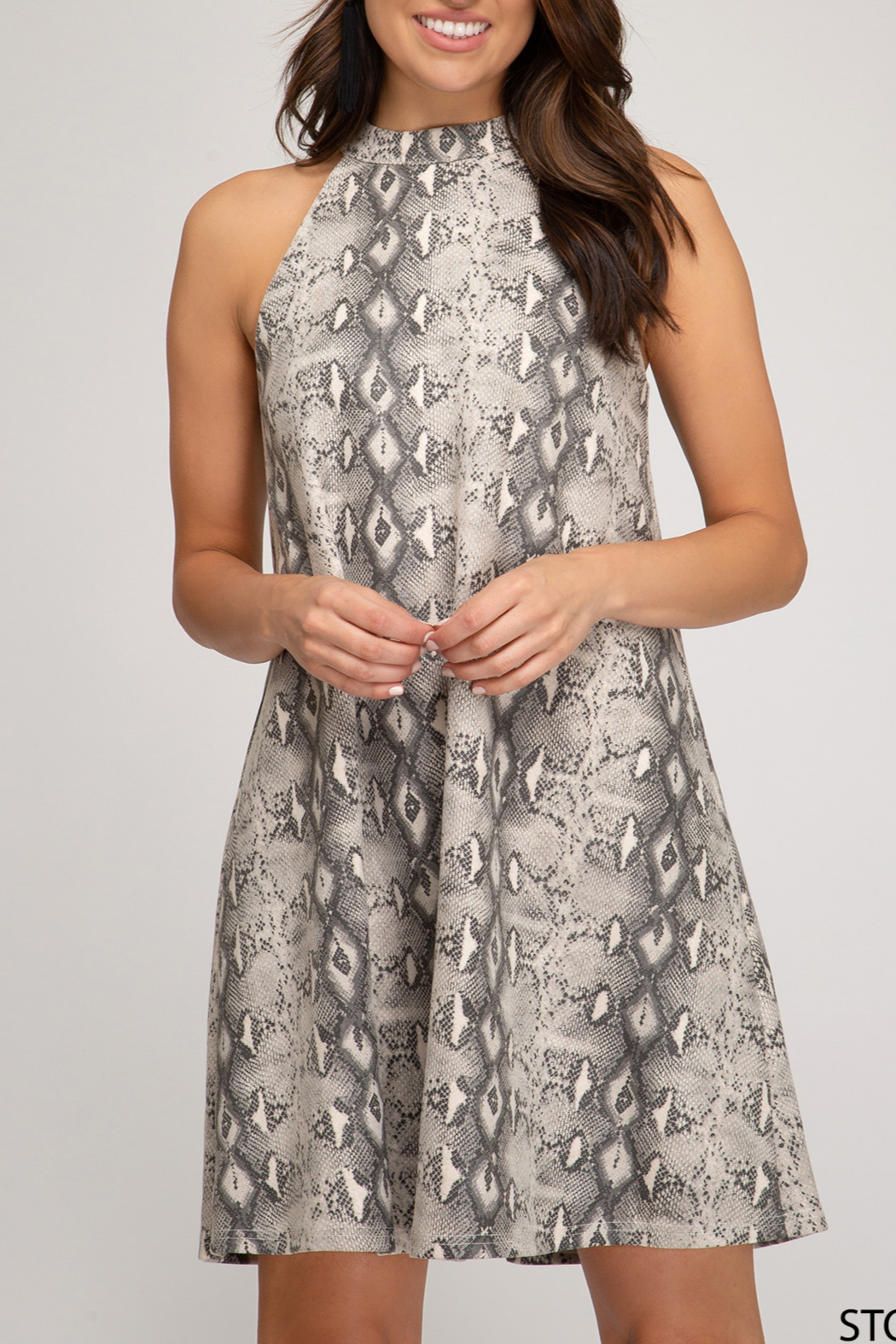 She and Sky Fashionably Fierce Dress - Front Cropped Image