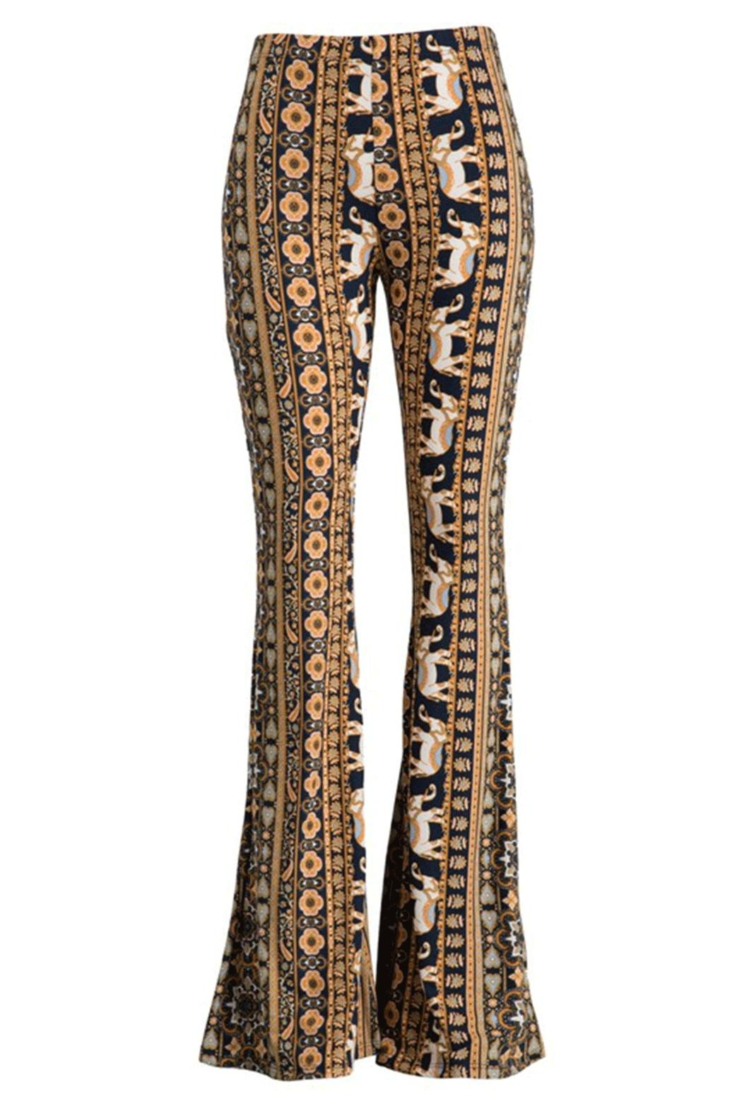 Fashionomics Elephant Bell Bottoms - Main Image