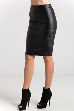 Shoptiques Product: Faux Leather Pencilskirt