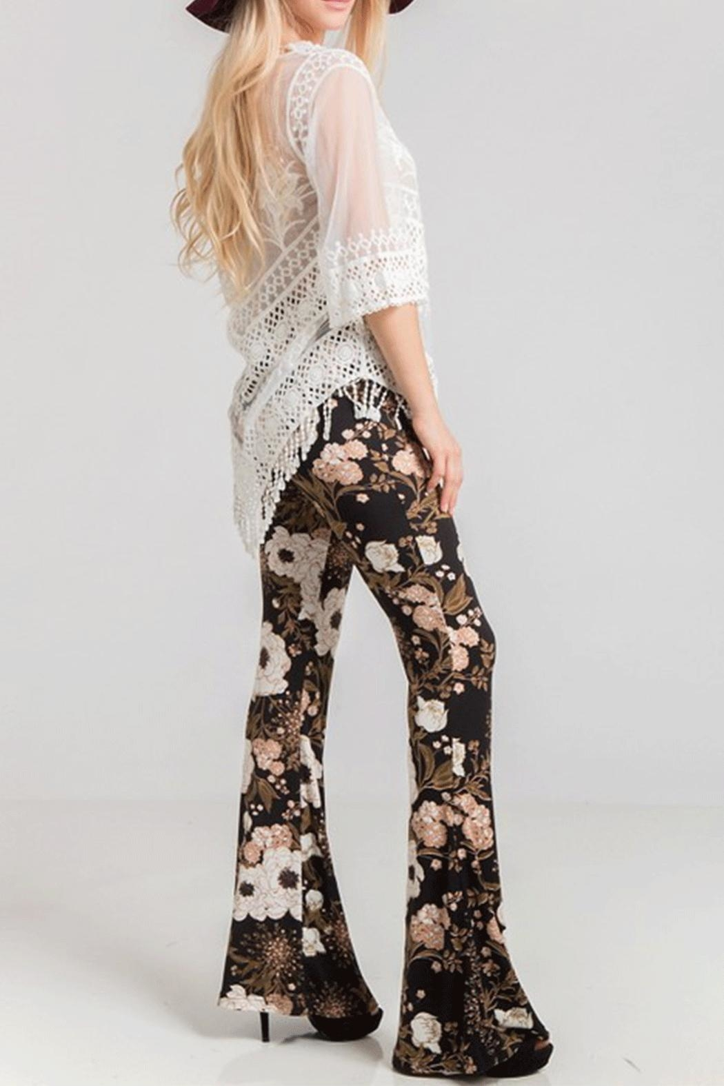 Fashionomics Floral Bell Bottoms - Front Full Image