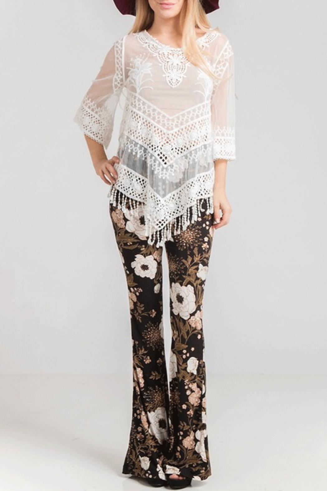 Fashionomics Floral Bell Bottoms - Main Image