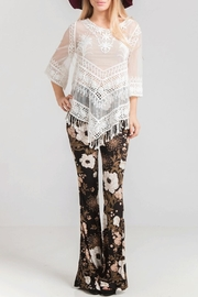 Fashionomics Floral Bell Bottoms - Front cropped