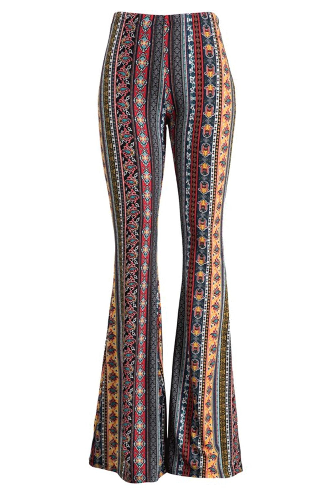 Fashionomics Hamsa Bell Bottoms - Main Image