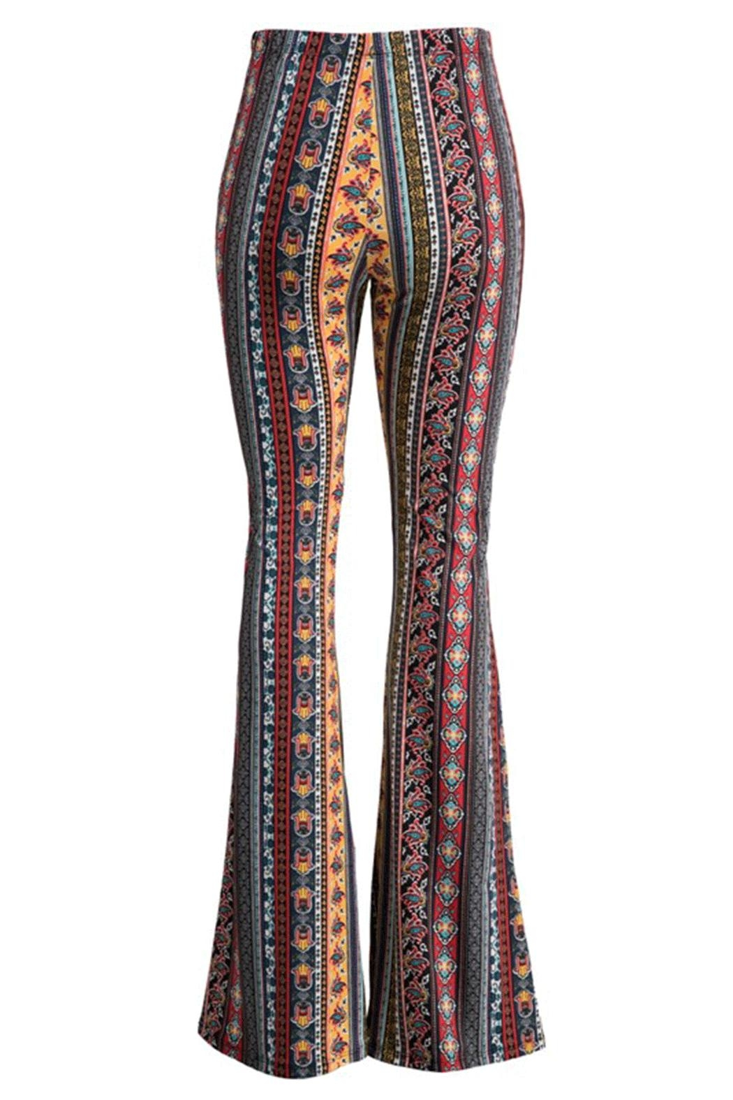 Fashionomics Hamsa Bell Bottoms - Front Full Image