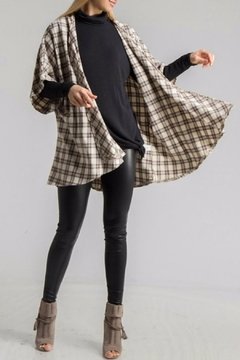 Fashionomics Plaid Kimono - Product List Image