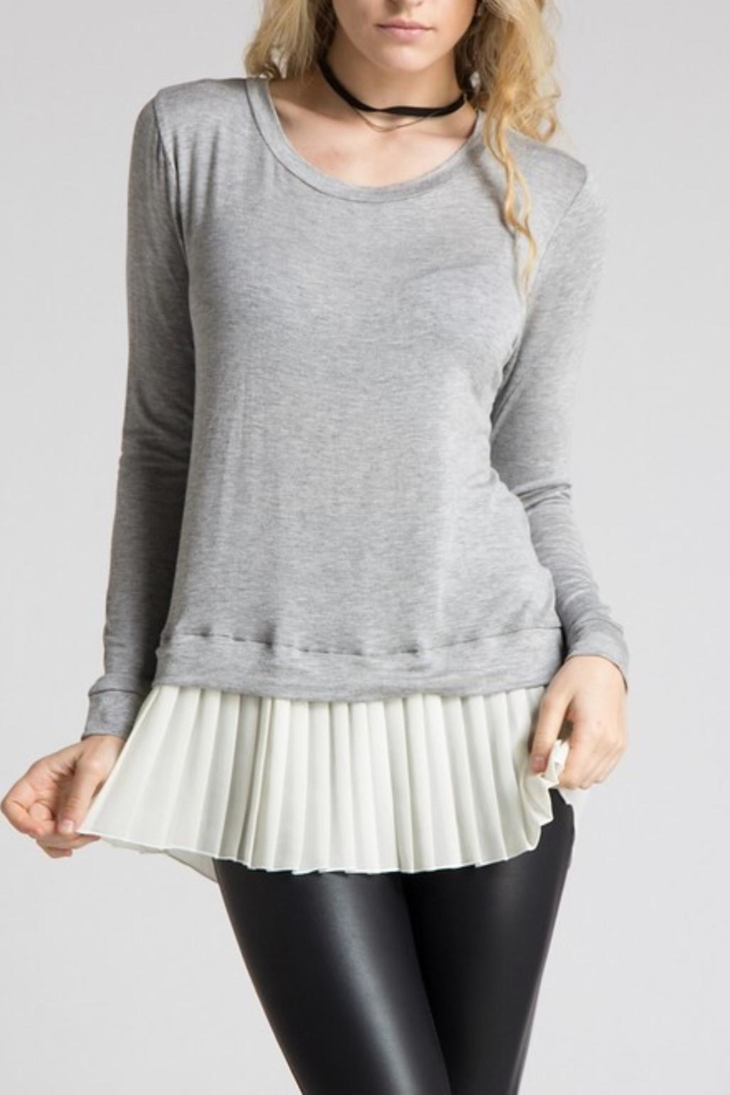 607d9b4c34d2 Fashionomics Pleated Hem Top from New Jersey by Alicia DiMichele ...