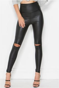 Fashionomics Vegan Leather Leggings - Alternate List Image
