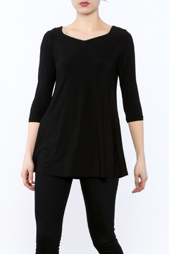 Shoptiques Product: Black Crisscross Tunic Top