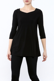 Fashque Black Crisscross Tunic Top - Product Mini Image