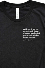 Fason De Viv Justice Will Not Be Served Pocket Style Tee - Front full body