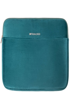 Fason De Viv Laptop Sleeve - Vixen Teal (Velour Finish) - Product List Image