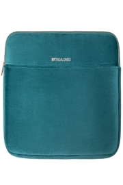 Fason De Viv Laptop Sleeve - Vixen Teal (Velour Finish) - Front cropped