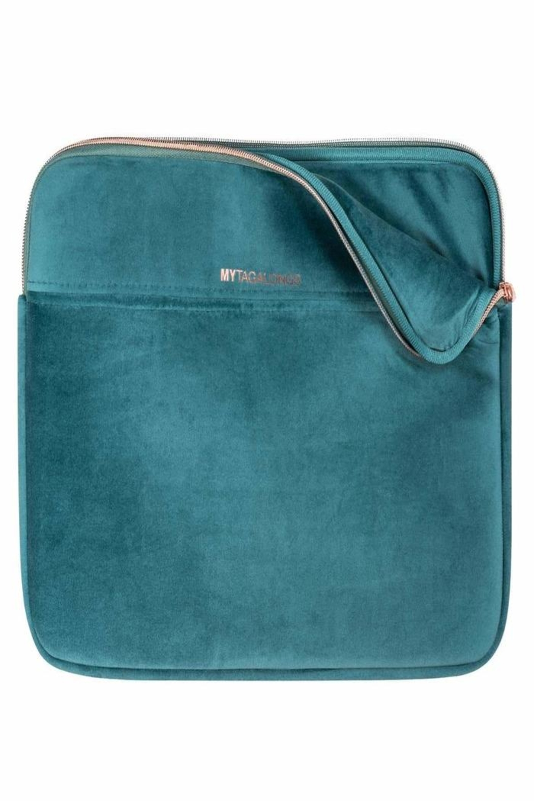 Fason De Viv Laptop Sleeve - Vixen Teal (Velour Finish) - Front Full Image