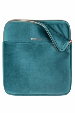 Fason De Viv Laptop Sleeve - Vixen Teal (Velour Finish) - Alternate List Image
