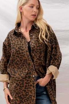 Fason De Viv Leopard Denim Jacket - Product List Image