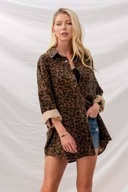 Fason De Viv Leopard Denim Jacket - Back cropped