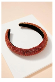Fason De Viv Rhinestone Decorated Wide Headband - Product Mini Image