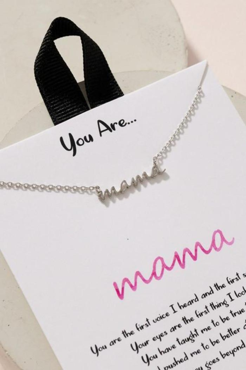 Fason De Viv You Are Mama Charm Gold Dip Necklace - Front Cropped Image