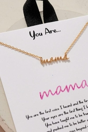 Fason De Viv You Are Mama Charm Gold Dip Necklace - Front cropped