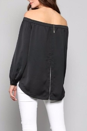 Fate Black Satin Top - Side cropped