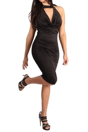 Fate Black Slip Dress - Front cropped