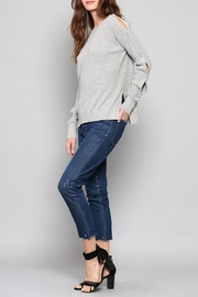 Fate Button Sleeve Sweater - Front cropped