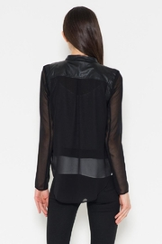 Fate Chiffon Leather Jacket - Side cropped