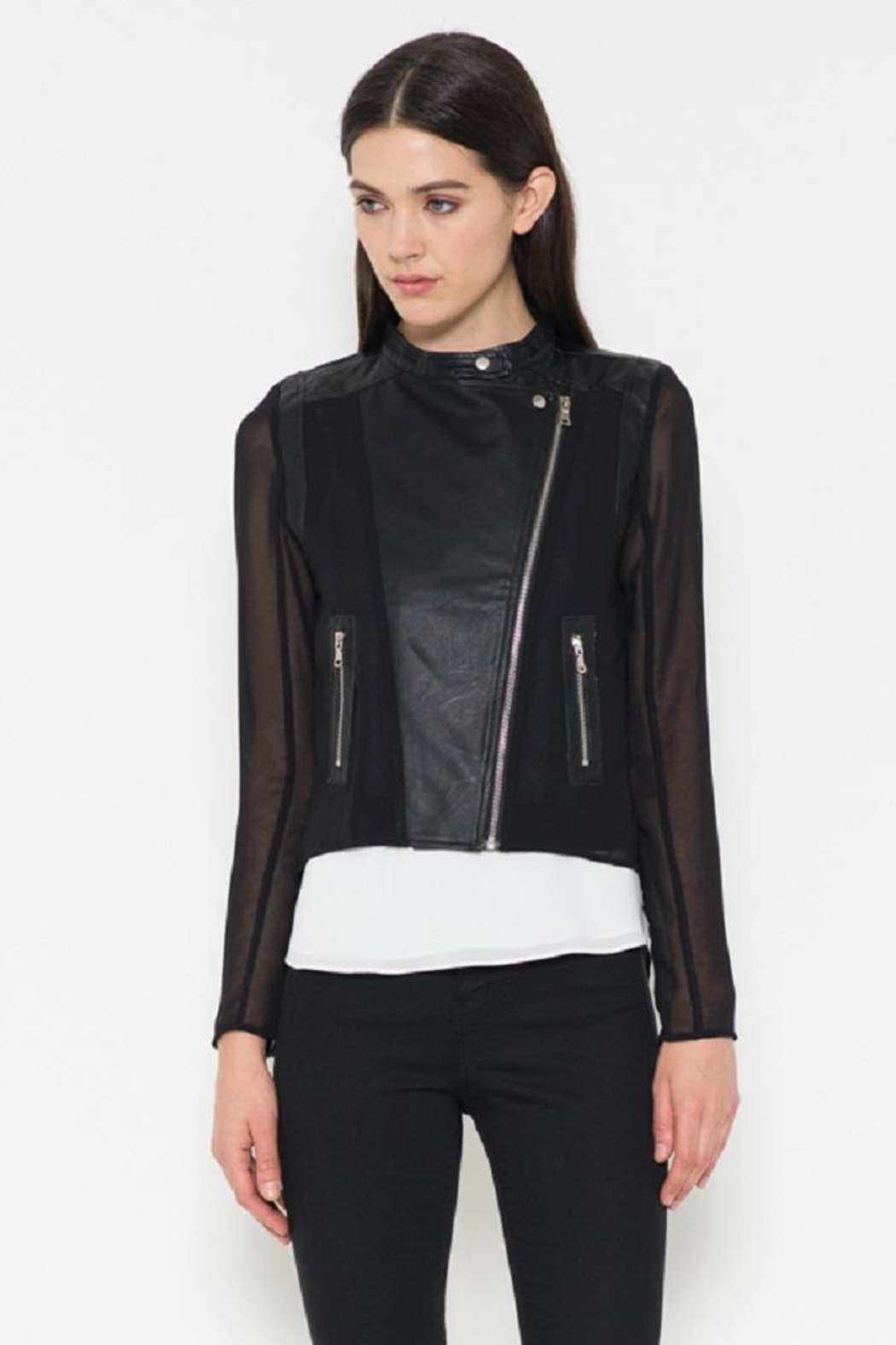 Fate Chiffon Leather Jacket - Main Image