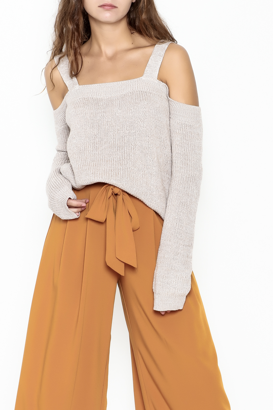 Fate Cold Shoulder Sweater - Main Image