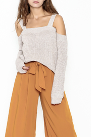 Fate Cold Shoulder Sweater - Front cropped