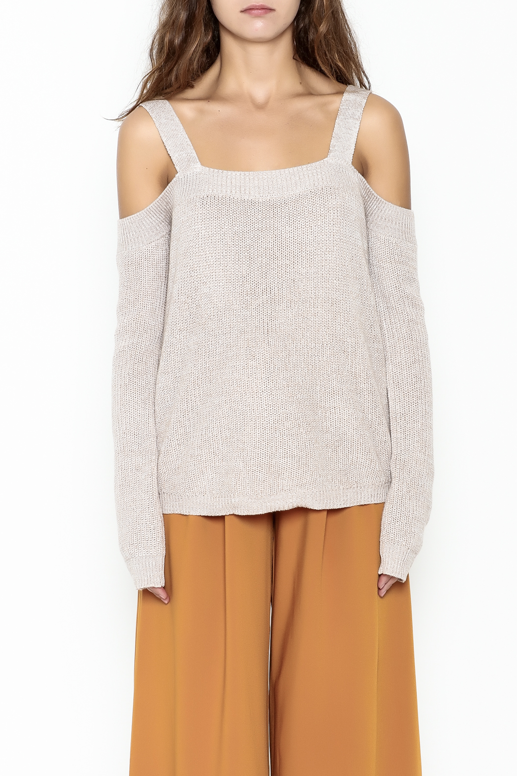 Fate Cold Shoulder Sweater - Front Full Image