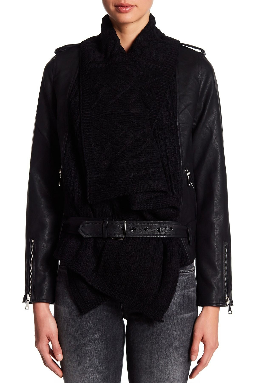 Fate Contrast Moto Jacket - Side Cropped Image